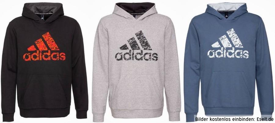 Adidas™ - Herren Hoody (Schwarz,Grau,Blau) ab €23,35 [@Galeria-Kaufhof.de]