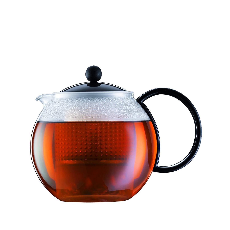 Bodum Assam Teebereiter (Kunststoffsieb, Kunststoffdeckel, 1,0l, schwarz) für 9€ bzw. 7,65€ (Müller)