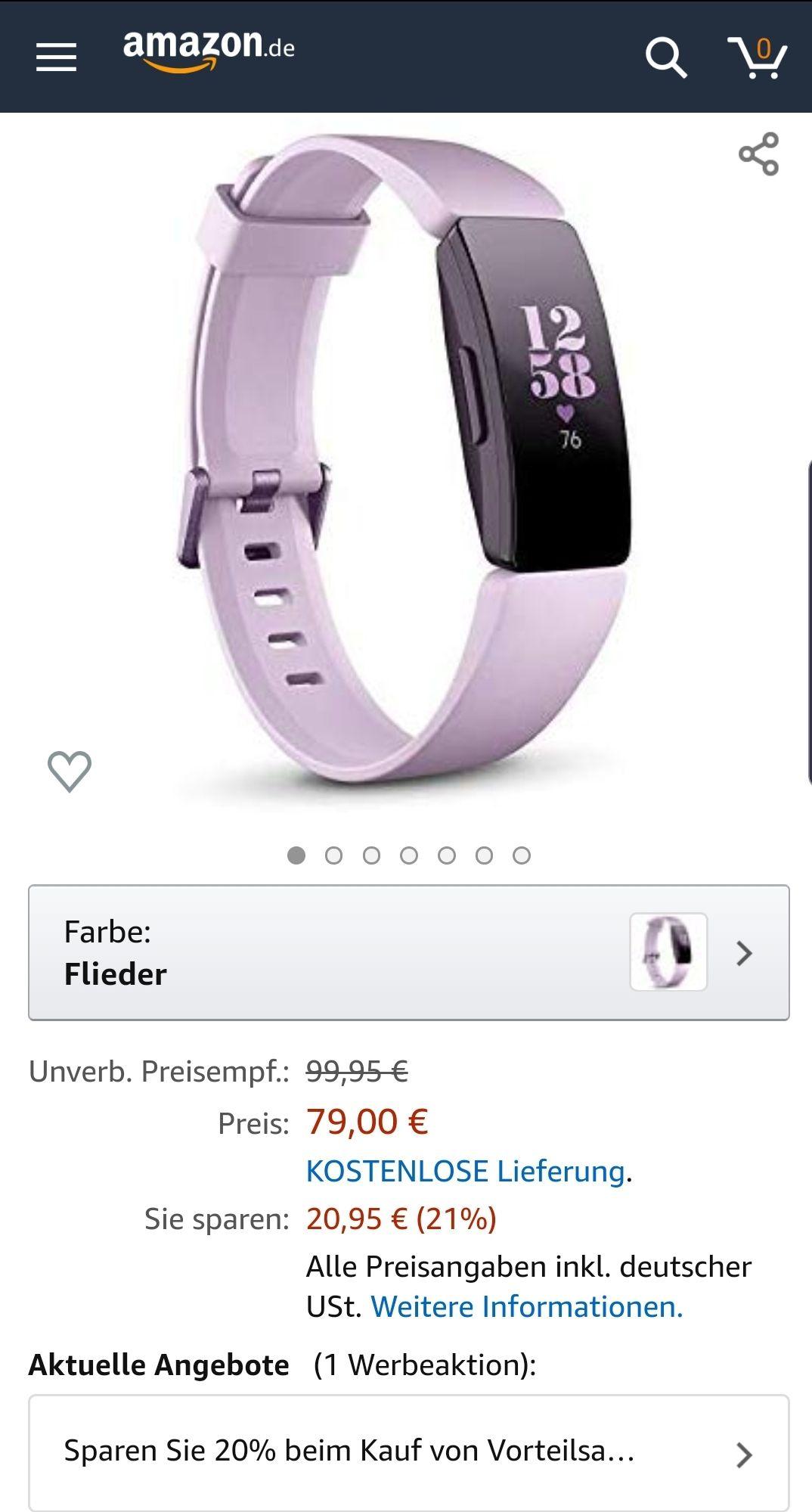 Amazon: Fitbit Inspire HR
