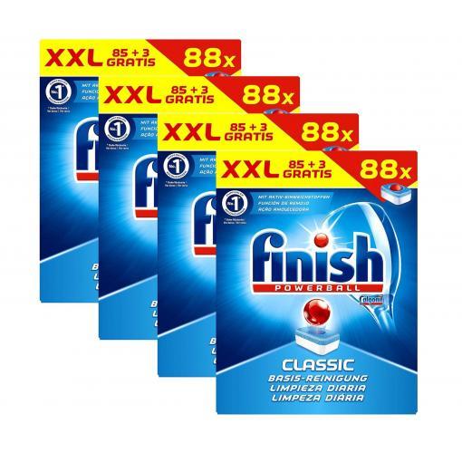 352x Finish Classic Regular Spülmaschinentabs Spültabs Geschirrspültabs 4 x 88 Tabs ( 0,079 € / Tab)