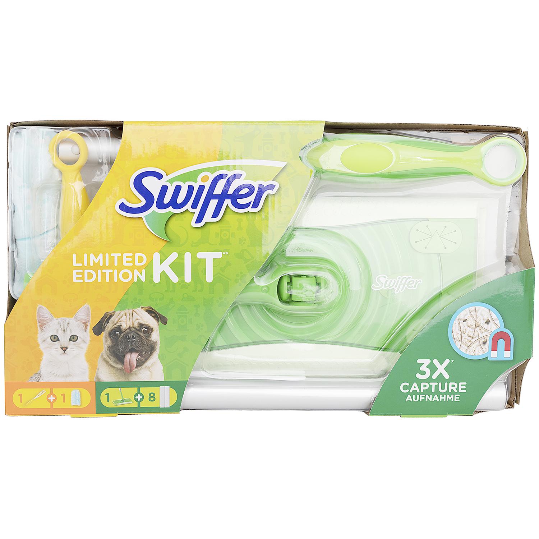 Swiffer Limited Edition Kit - Bodenwischer und Handwedel // 36 Bodentücher für den Wischer für 4,44€ (Action bundesweit)