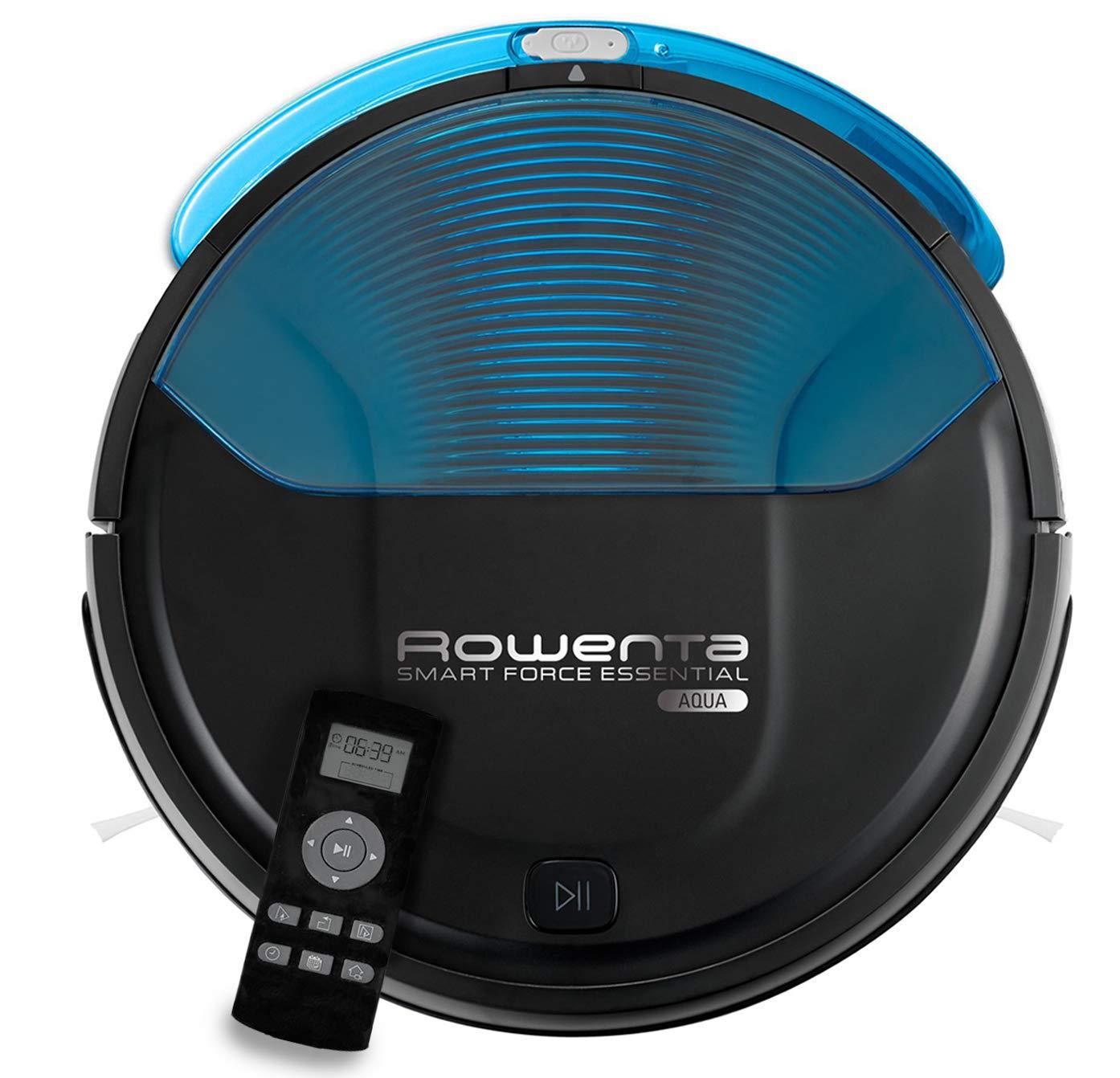 Rowenta RR6971 Smart Force Essential Aqua Saug- und Wischroboter, 2in1 Roboter-Staubsauger mit Wischfunktion