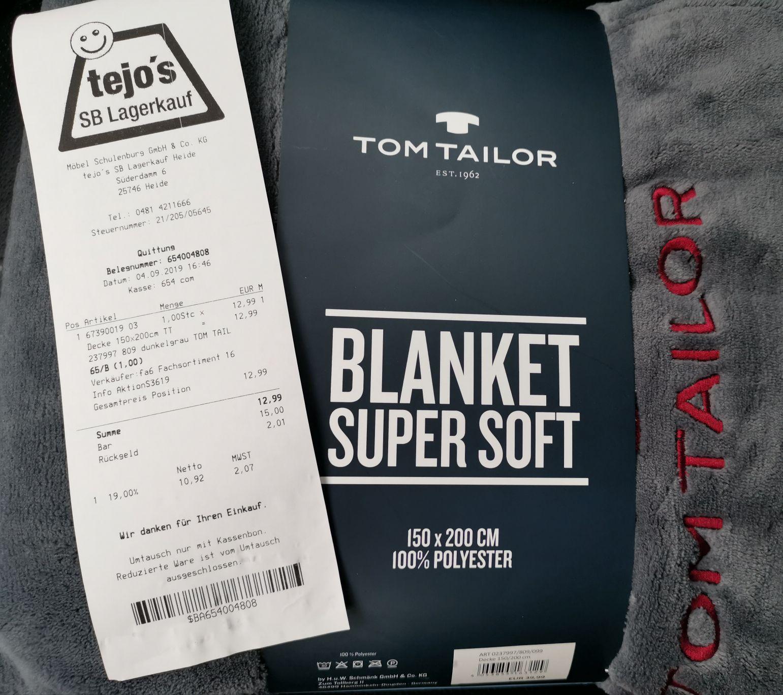 [lokal] Tom Tailor Decke 150x200cm (Tejo's Heide/Dithmarschen)