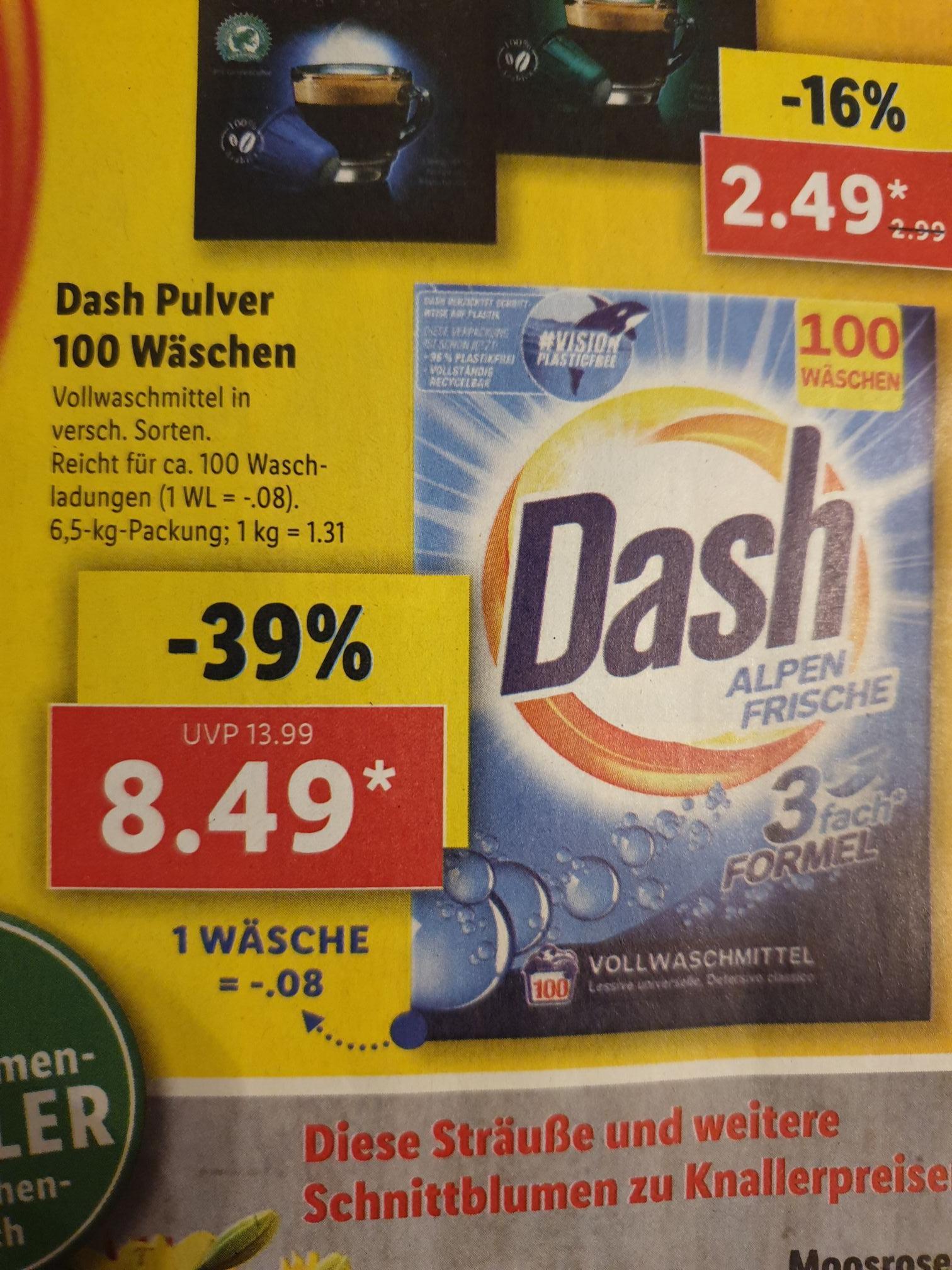 [LIDL] Dash Vollwaschmittel 100 Wäschen