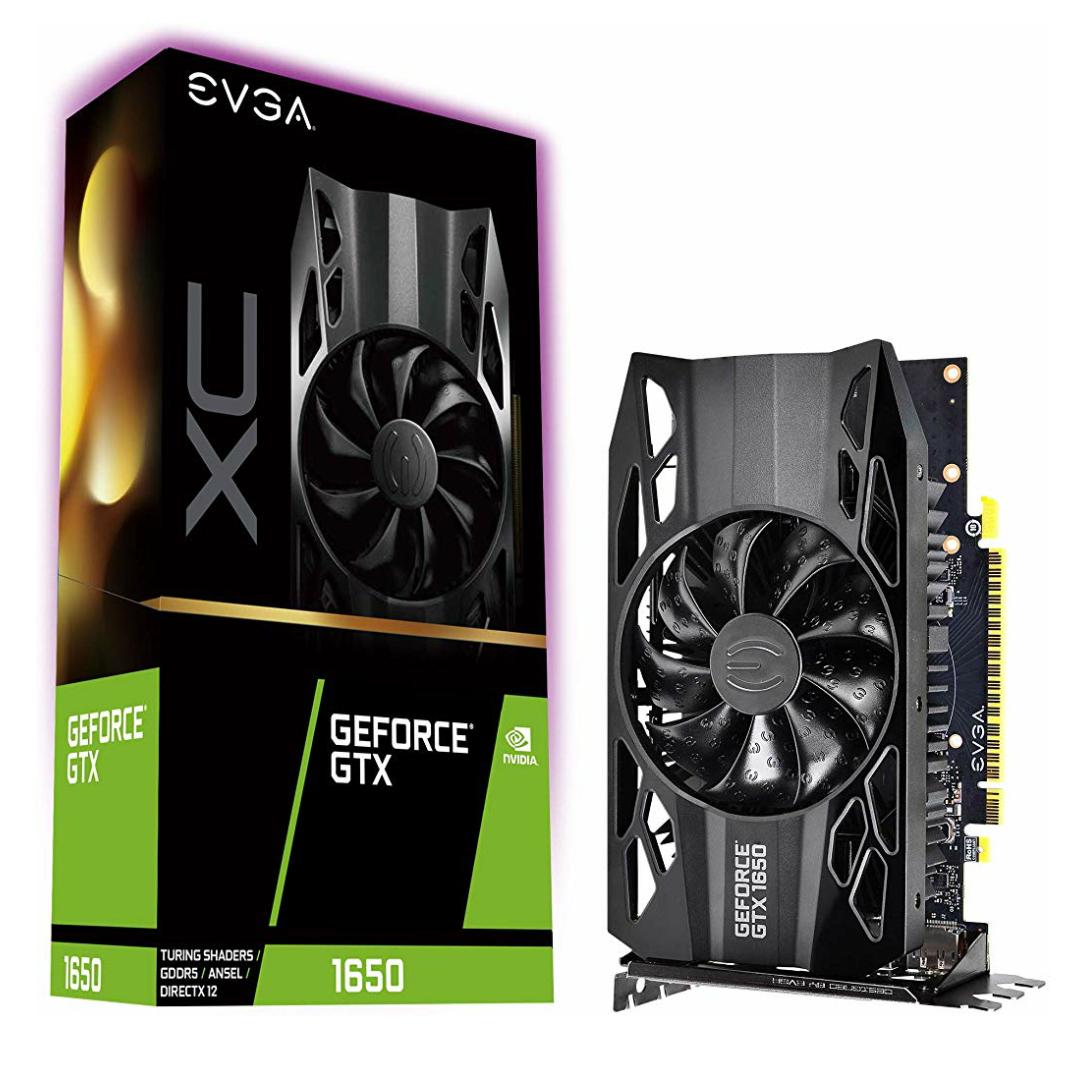EVGA GeForce GTX 1650 XC Gaming Grafikkarte, GF GTX 1650, 4GB GDDR5, PCIe 3.0 x16 - HDMI, 2 x DisplayPort