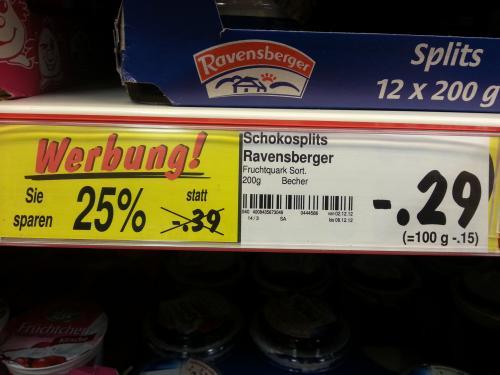 [Lokal Rostock?] Splits-Joghurt für 29 Cent im Kaufland Rostock