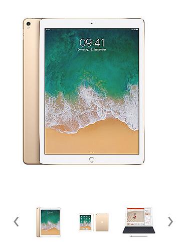 "[Cyberport / Cyberdeals] Apple iPad Pro 12,9"" 2017 Wi-Fi + Cellular 512 GB Gold MPLL2FD/A + Gratisbeigabe Apple Pencil!"