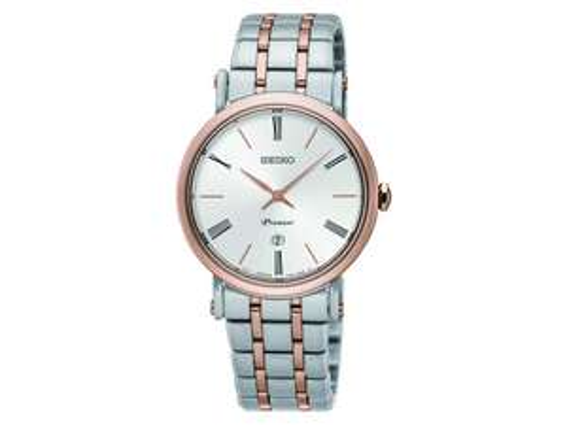 "SEIKO Damen-Quarz-Armbanduhr ""Premier SXB430P1"" (Saphirglas, Edelstahl) [iBOOD]"