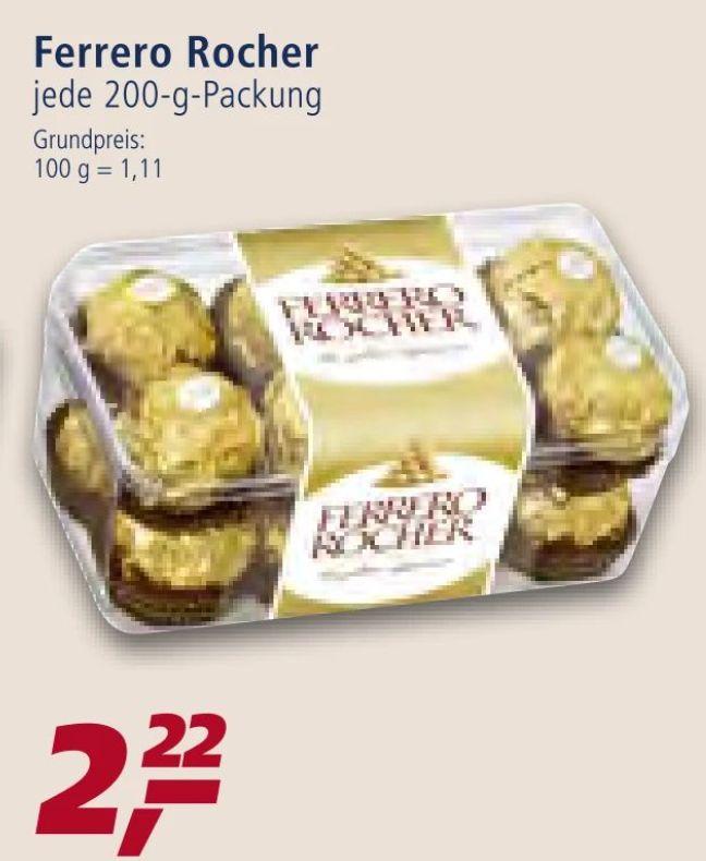 [REAL / Kaufland ab 19.09 ] Ferrero Rocher in der 200 Gramm Schale für 2,22€