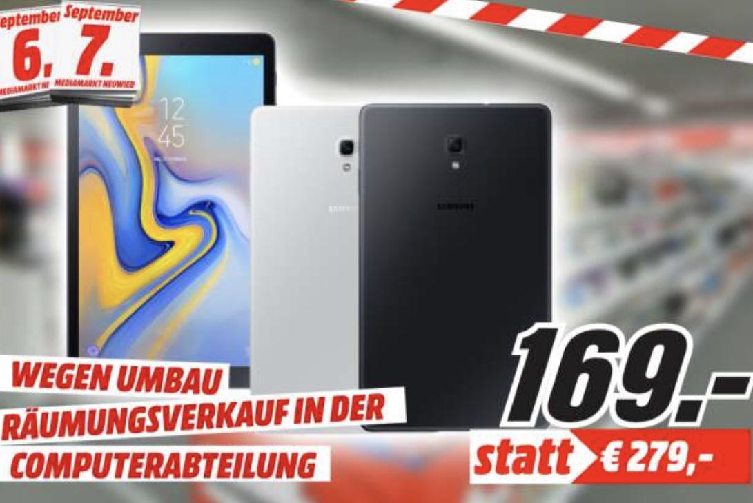Lokal MediaMarkt Neuwied: Samsung Galaxy Tab A 10.5 für 169€ / Galaxy Tab S4 für 399€ (LTE 444€) / Huawei MediaPad M5 für 249€ (LTE 349€)