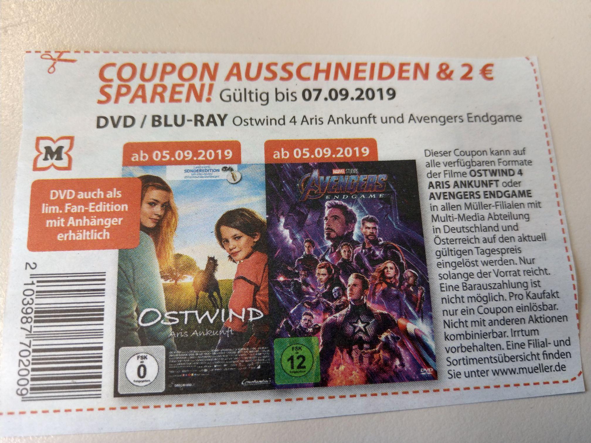 Endgame Marvel Avengers DVD (auch BluRay)