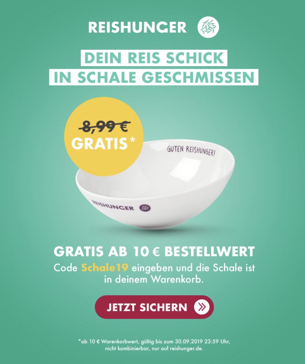 """Gratis Reisschale """"Mbw: 10€"""""""