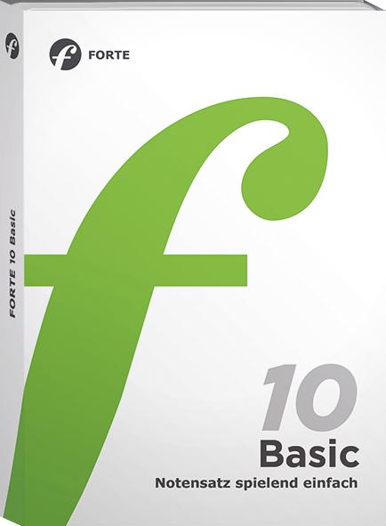 Notensatzsoftware FORTE 10 Basic kostenlos herunterladen!
