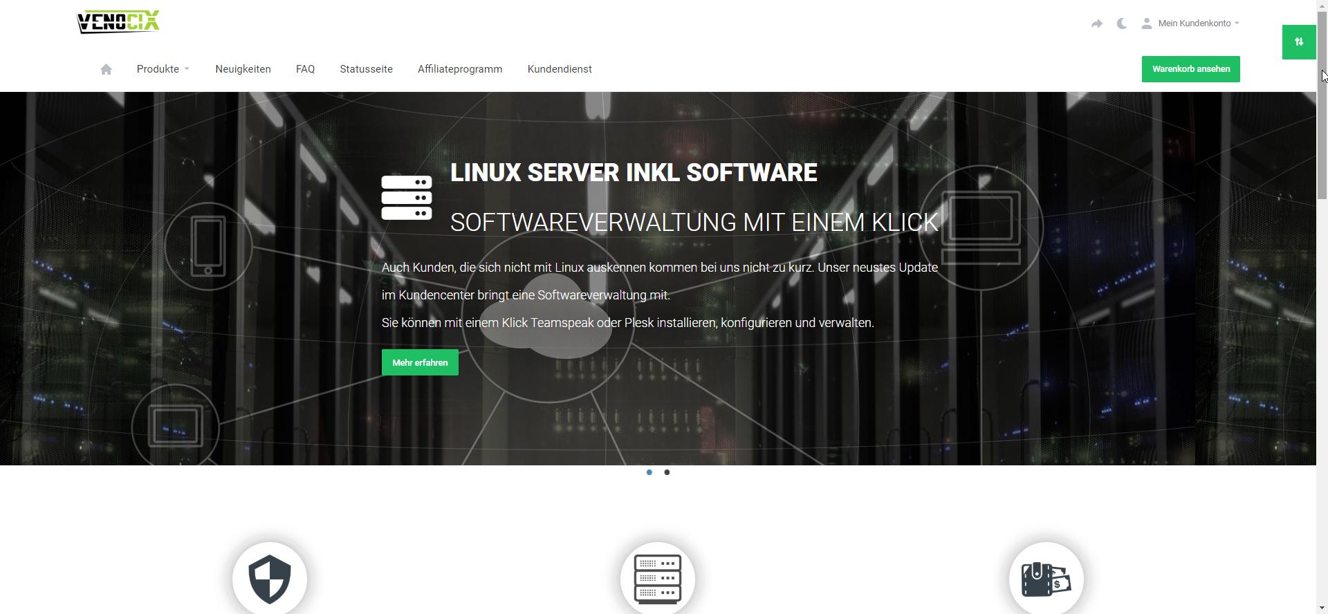 KVM/Root/VPS Server - vServer Special - 2 Kerne - 8 GB RAM - 75 GB SSD - 10 Gbit - Prepaid