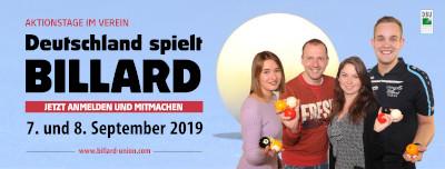 7./8. September 2019 - Deutschland spielt Billard