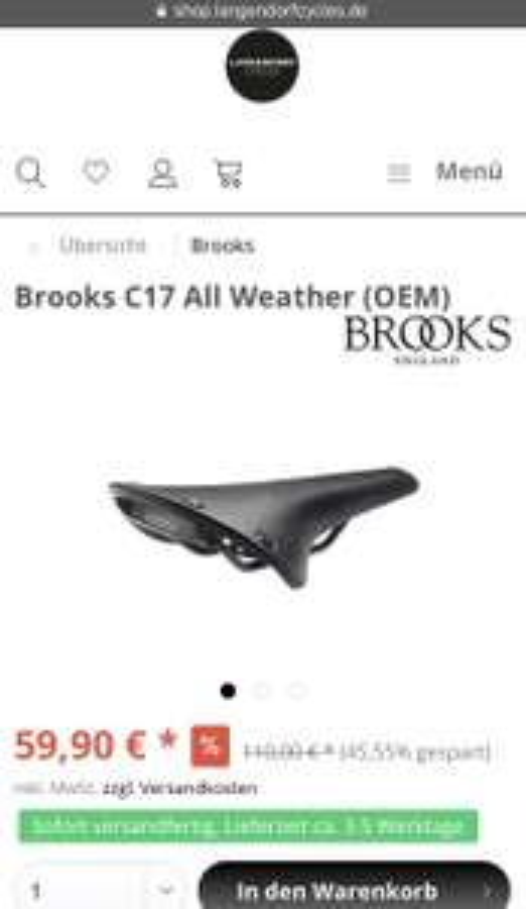 Fahrradsattel Brooks C17 All Weather (OEM)