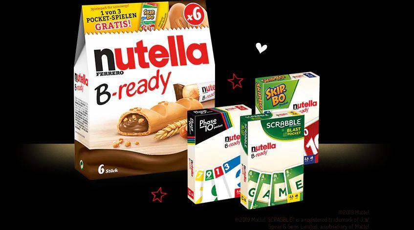 GRATIS  Pocket Spiel (Wert ~4€) bei Kauf von einer Aktionspackung Nutella B-Ready