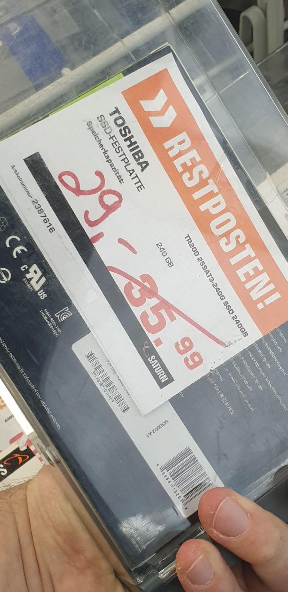 [Lokal Berlin] Saturn Europacenter Toshiba SSD TR200 240GB für 24.37€