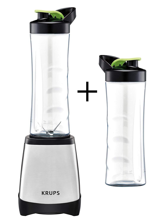 Krups KB204D Smoothie-Maker (2 mitnehmbare 0,6L-Flaschen, 300 Watt)