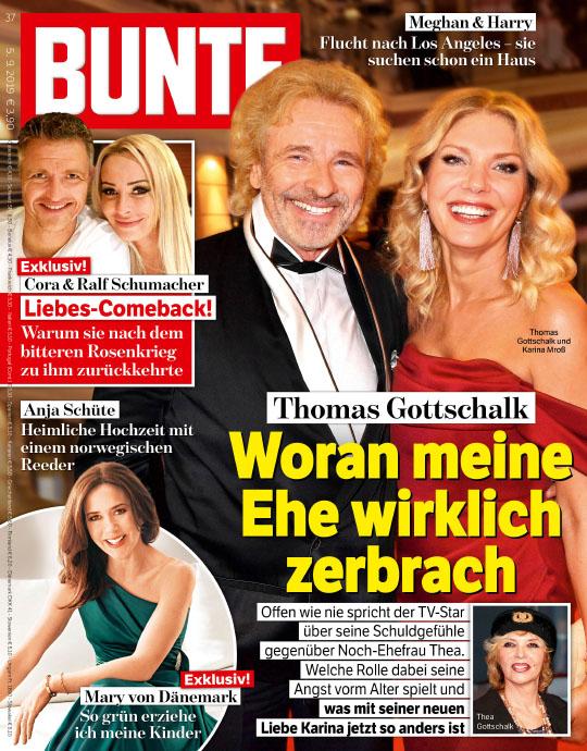 (Verlagsaktion) 5 Ausgaben BUNTE für 12,70 € + 10€ Verrechnungscheck o. Douglas-Gutschein