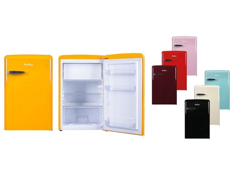Amica Retro-Kühlschrank mit Gefrierfach KS 15610 - 16