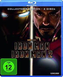 Iron Man 1 & 2 (Collectors Edition 2 Discs Blu-ray) für 4€ (Dodax)