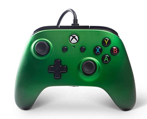 PowerA Xbox One Enhanced Wired ControllerEmerald Fade[Amazon Prime]