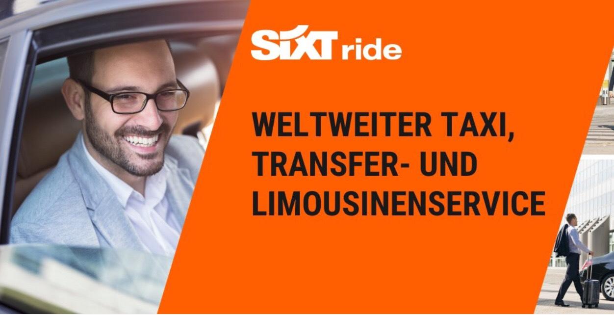 Taxifahren mit 10 % Rabatt bei Sixt Ride [Lokal]