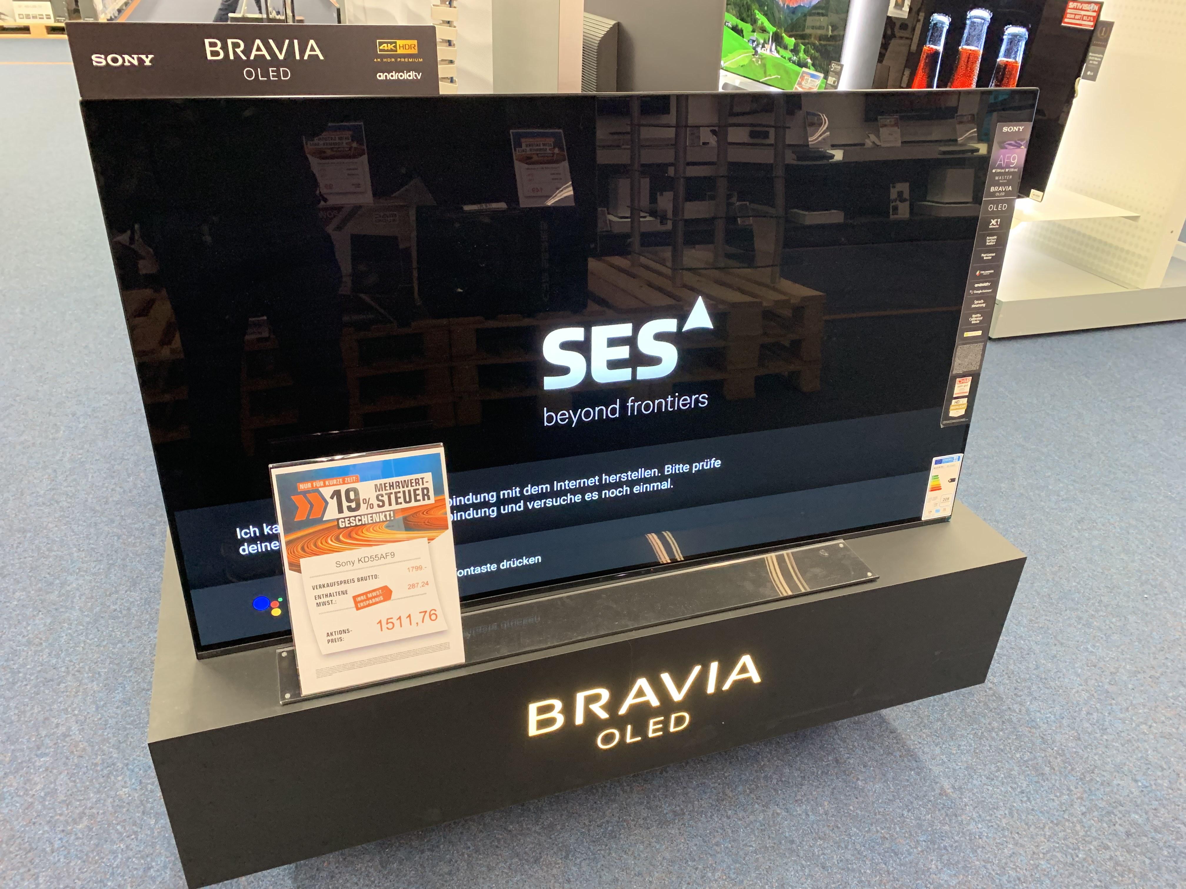 Sony KD-AF9 KD-55AF9 55ZOLL  Fernseher SATURN LOKAL Heidelberg