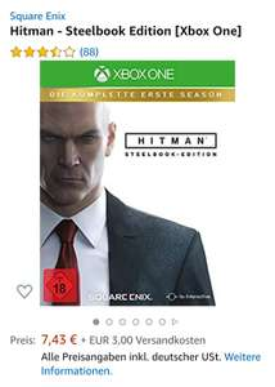 Hitman - Steelbook Edition - Xbox One
