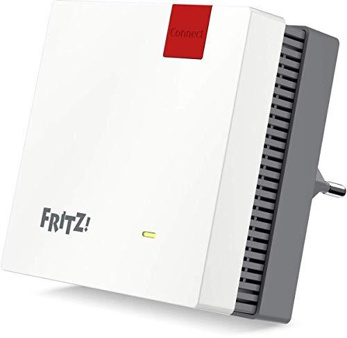 AVM Fritz!Repeater 1200 (Zwei Funkeinheiten: 5 GHz bis zu 866 MBit/s, 2,4 GHz bis zu 400 MBit/s 1x Gigabit-LAN WLAN Mesh deutsche Version)