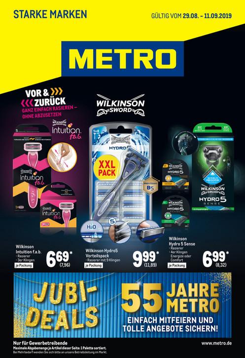 [Metro] Hydro 5 9 Klingen + Rasierer