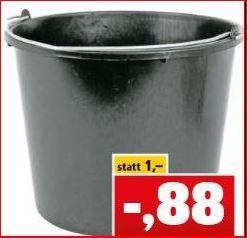 Baueimer 12 Liter für 88 Cent / Original 5,0 Bier versch. Sorten für 39 Cent [Thomas Philipps]
