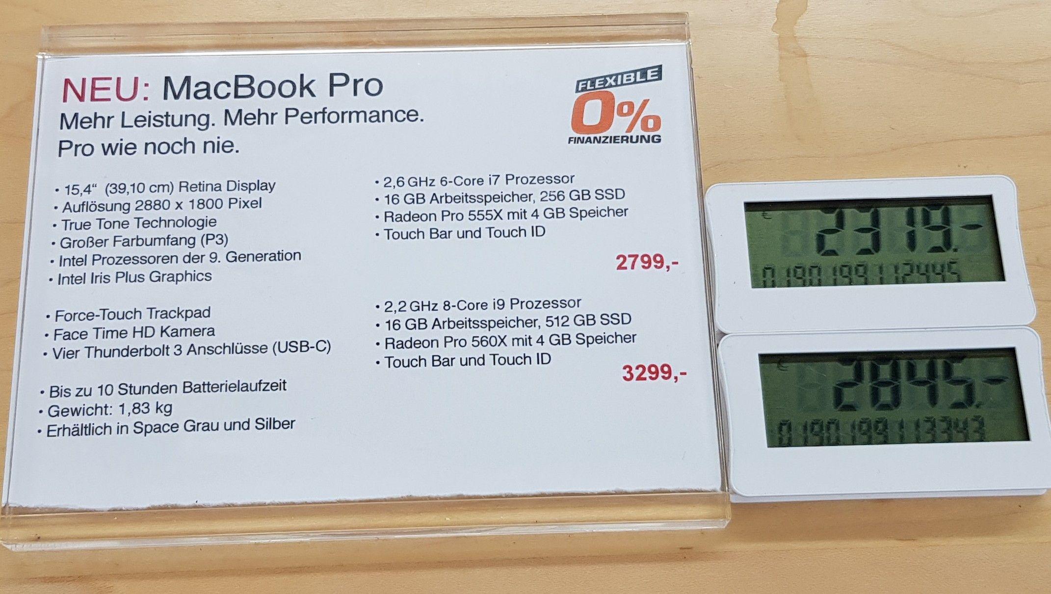 [Saturn lokal Düsseldorf] MacBook Pro 15 i7 16 GB 256 GB Radeon Pro 555X