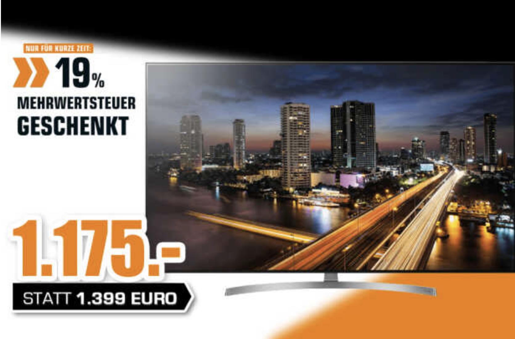 Saturn Bergisch-Gladbach: LG OLED65B87LC OLED TV für 1175€ (ausverkauft) / Sony KD-65XF7005 65 Zoll 4K UHD TV für 545€ - nur am Sonntag!