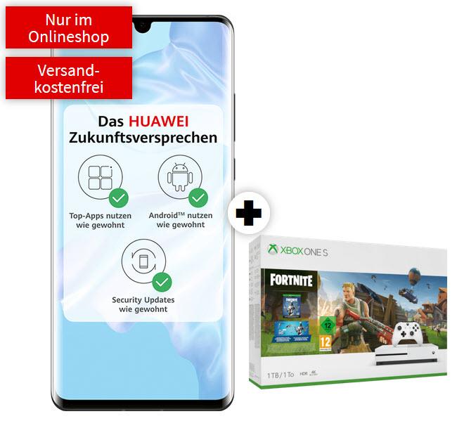Huawei P30 Pro mit Xbox One S 1TB Bundle (Anthem, Fortnite oder The Division 2) im Debitel Vodafone (10GB LTE) mtl. 31,99€ und 49€ einmalig