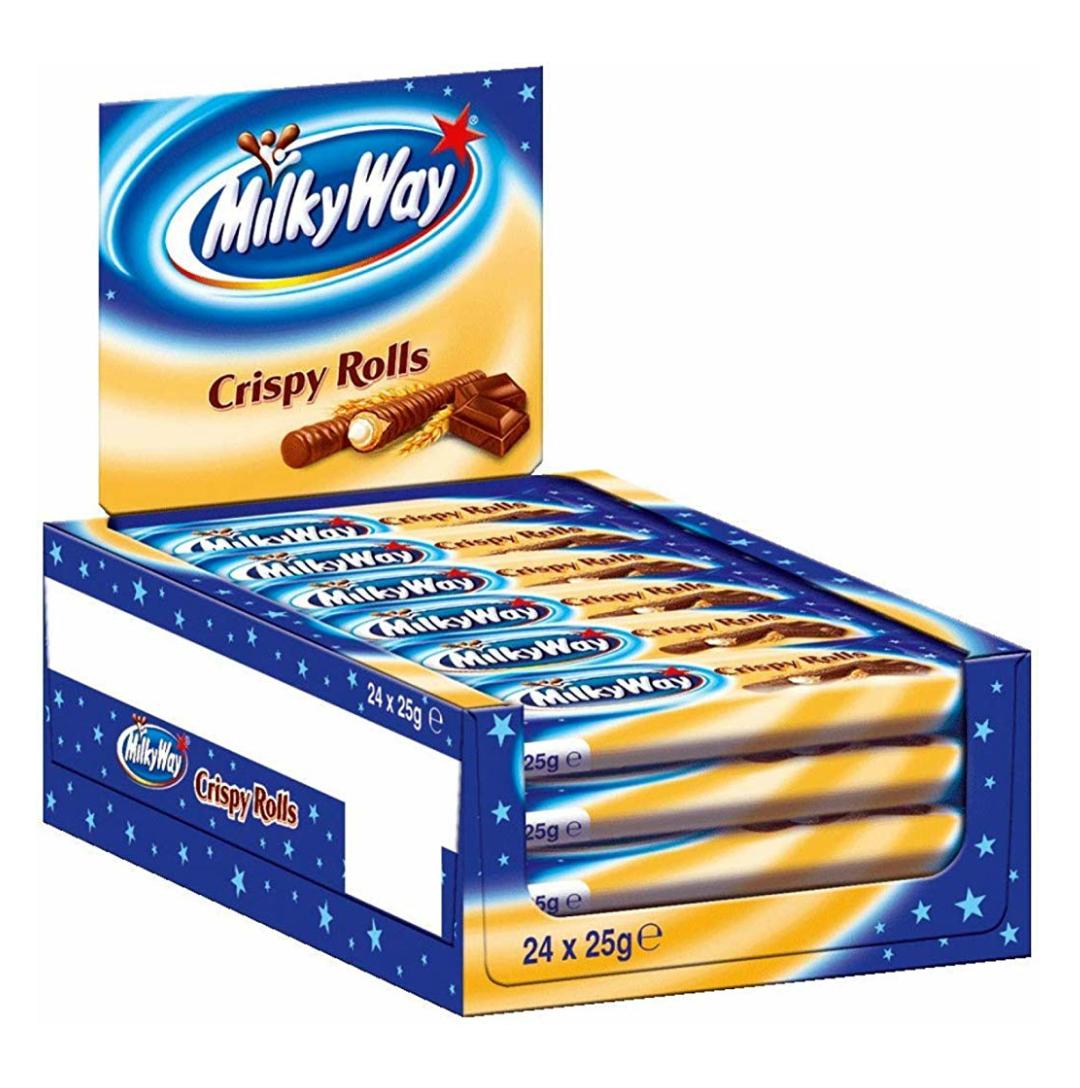 Milky Way Crispy Rolls, 24er Pack (24 x 25 g) [Prime]