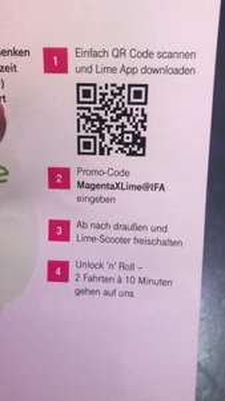 (Lokal Berlin) LIME 2 Freifahrten á 10 Minuten