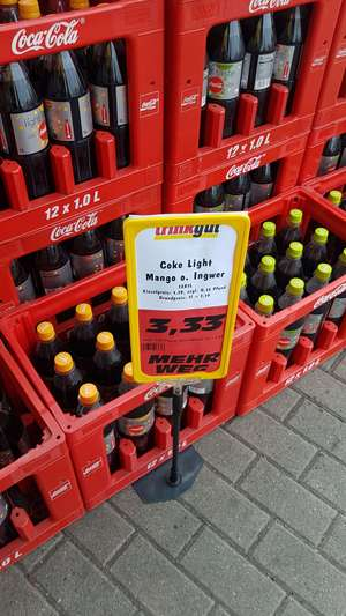[Lokal] trinkgut Filiale Essen Zentrum - Kiste Coca Cola Coke Light Exotic Mango & Ginger Lime