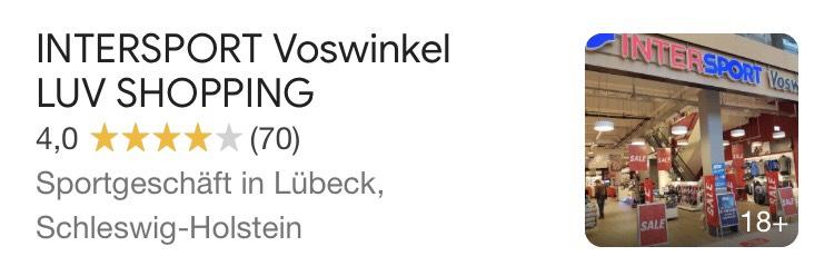 [Lokal] Intersport LUV Center Lübeck 50%+20%