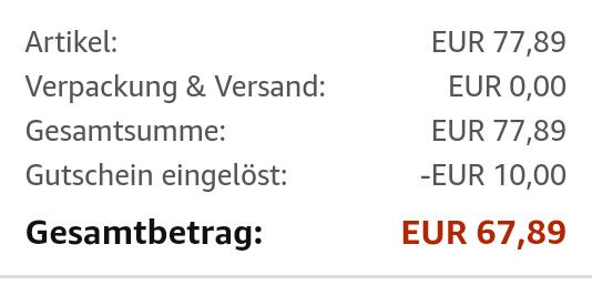 [Amazon] Samsung SSD EVO 860 500 GB mit 10€ Gutschein für 67,89€