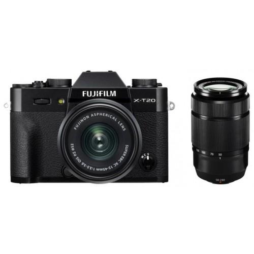 Fujifilm X-T20 Systemkamera schwarz + XC 15-45 + XC 50-230 für 799€