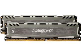 Saturn MwSt-Aktion BALLISTIX Sport LT 32 GB (2 x 16 GB) Kit 3000 CL15 grau, Arbeitsspeicher RAM DDR4