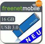 freenetMobile + 16 GB Super-Talent Express Drive Duo USB 3.0 Stick (sauschnell !!!)