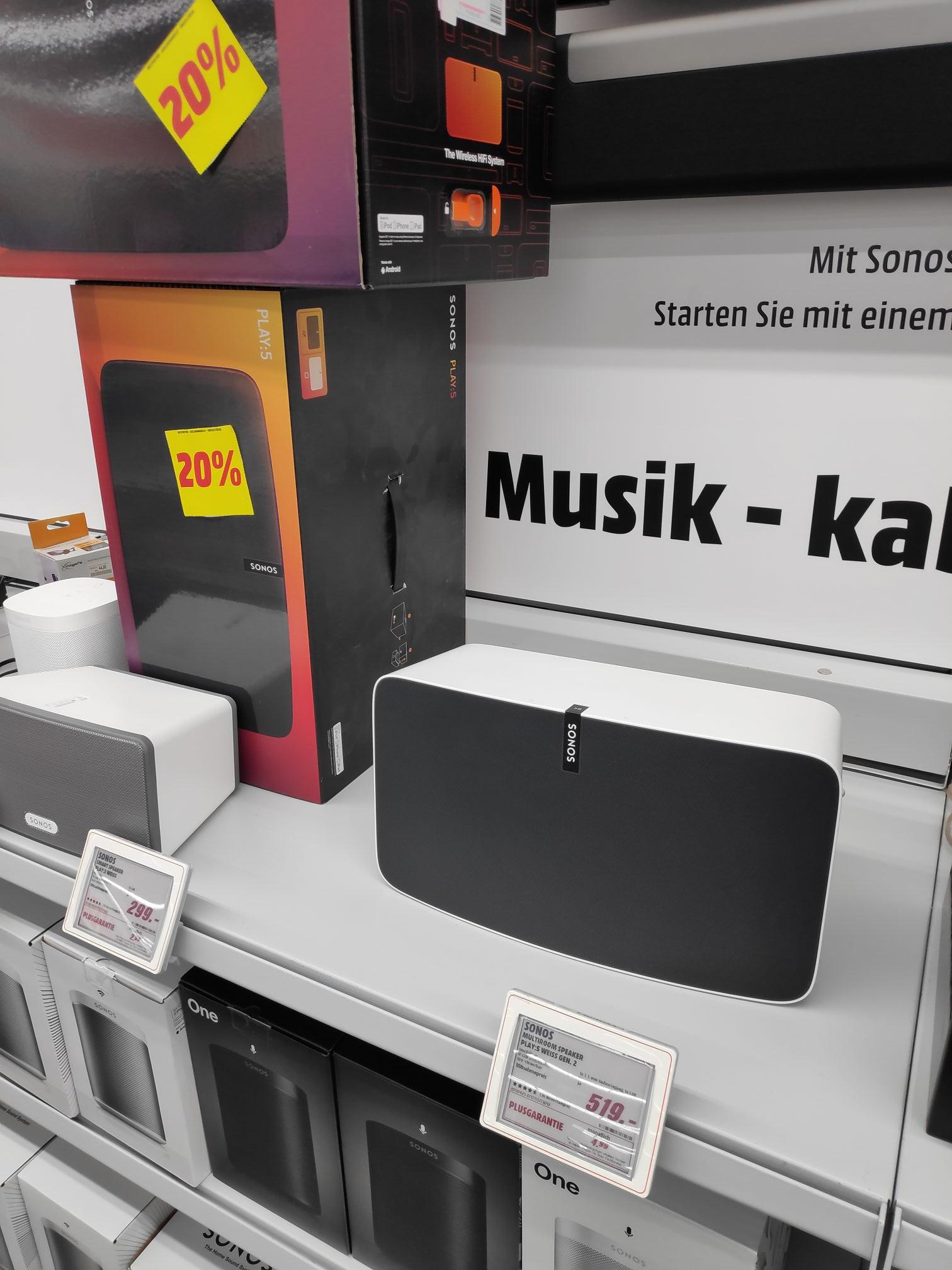 [lokal Coburg] Sonos Play 5 Gen 2 - MediaMarkt