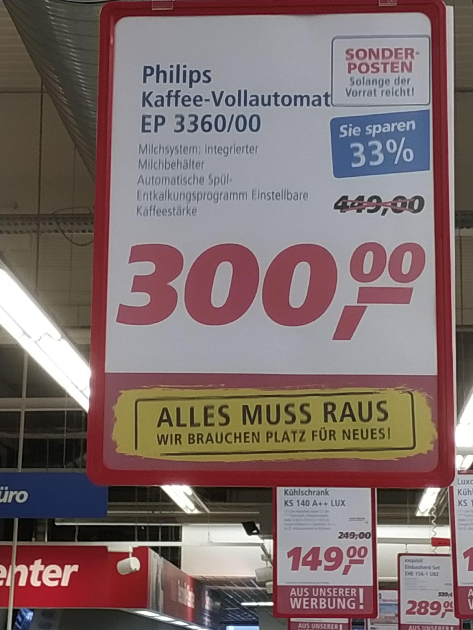 Philips EP3360 Kaffeevollautomat Real Alzey