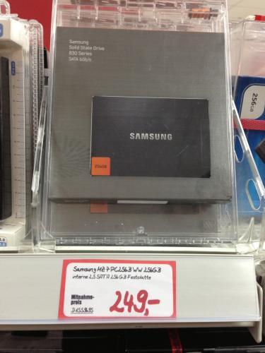 Samsung 830 SSD mit 256GB im MediaMarkt Köln Hohe Straße