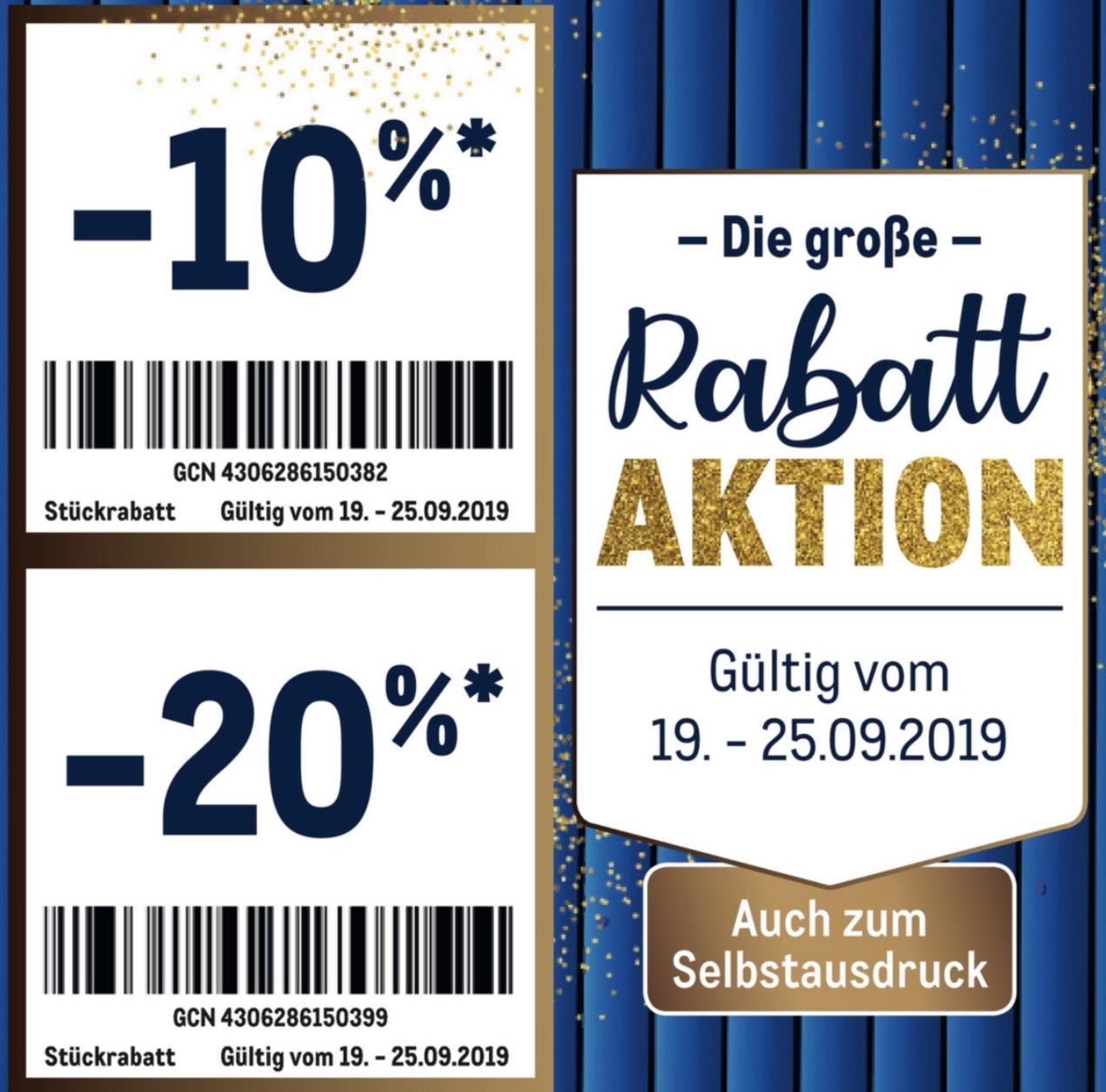 Metro ab 19.09.: 20% bzw. 10% Sticker-Rabatt-Aktion auf fast alles - auch zum Selbstausdruck!