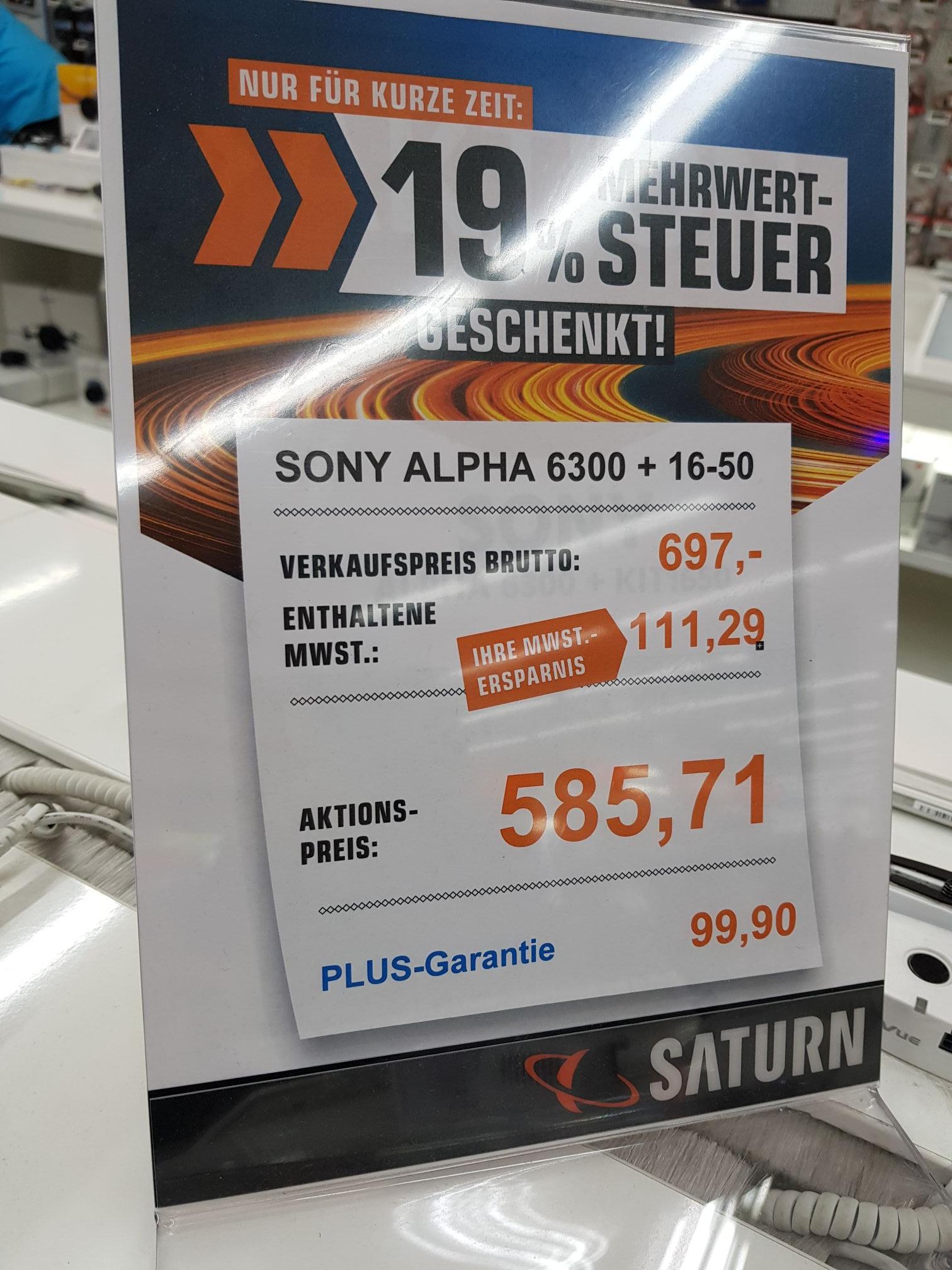 [Lokal] Sony Alpha 6300 Kit / Saturn Karlsruhe