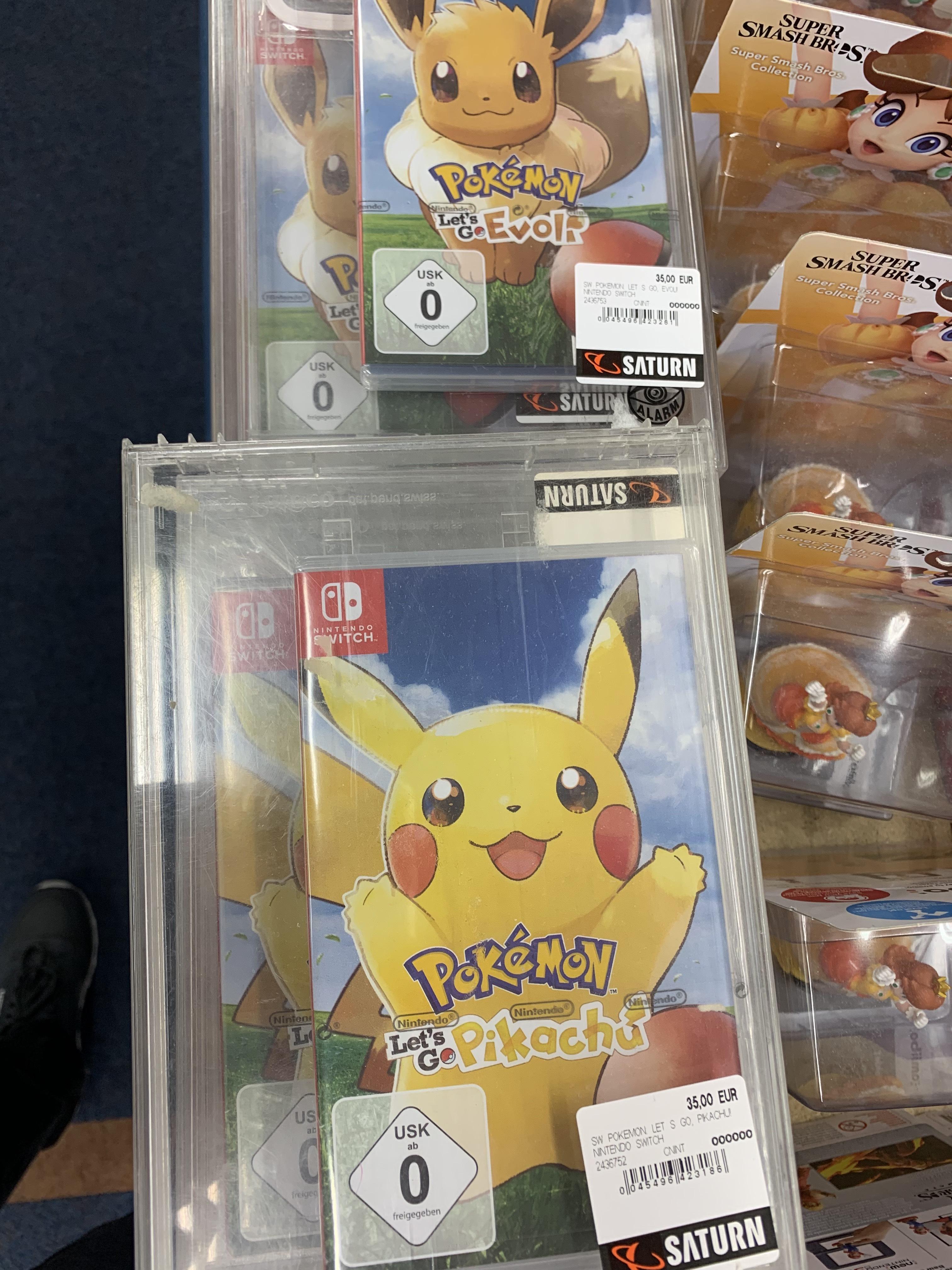 [Lokal Saturn Regensburg] Pokémon Let's Go Pikachu/Evoli für ~30 Euro